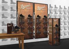 Danner #carboncollaborative Retail Store Design, Wine Rack, Design Trends, Lockers, Locker Storage, Cabinet, Furniture, Home Decor, Clothes Stand