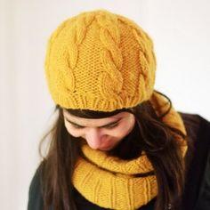 Modèle à tricoter bonnet Marta en Fil K de la filature du Valgaudemar
