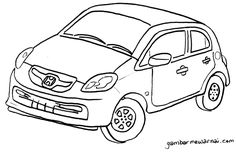 Aneka Gambar Mewarnai Gambar Mewarnai Mobil Untuk Anak Paud Dan Tk