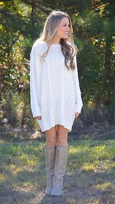 The sweater dress that everyone dreams of owning is available NOW at shopbluedoor.com!