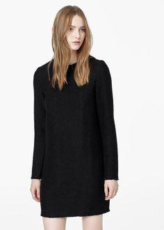 Strukturiertes baumwollkleid -  Damen | MANGO