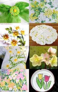 Epsteam Spring Fever by Cathy Brooks on Etsy--Pinned with TreasuryPin.com #SpringFlowers #Tulips #Daffodils #Daisies #FlowerJewelry #FlowerDish