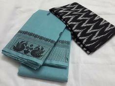 Simple sari Cotton Sarees Handloom, Silk Saree Kanchipuram, Lehenga Saree, Saree Dress, Saree Jewellery, Classy Wear, Simple Sarees, Ethnic Sarees, Elegant Saree