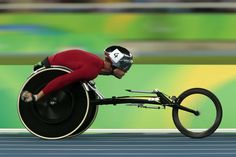 Marcel Hug of Switzerland competes on the Men's 5000m T54 Semi-Final on day 2 of the Rio 2016 Paralympic Games at the Olympic Stadium on September 9, 2016 in Rio de Janeiro, Brazil.