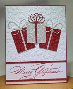 Gifts by jandjccc – Cards and Paper Crafts at Splitcoaststampers – Christmas Cards – cretvdiy Homemade Christmas Cards, Christmas Cards To Make, Homemade Cards, Holiday Cards, Christmas Crafts, Merry Christmas, Stampinup Christmas Cards, Christmas Cookies, Embossed Christmas Cards