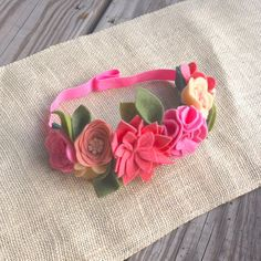 Felt Flower Crown // Coral Blush Pink  Peach // by fancyfreefinery, $23.50