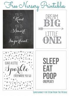 Sohosonnet | Free Nursery Printables