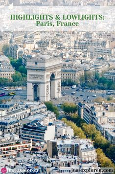 Ahhh Paree! The city of love! Iconic, romantic, pretty, a few adjectives to describe the capital city of France, Paris. Here are a few of 'must see' places in the city.