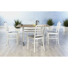 Have to have it. Euro Style Sherwood 5 Piece Dining Set with Café Aluminum Chairs - $1260 @hayneedle