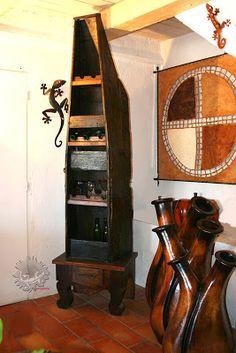 meuble de bar pirogue mexicaine mobilier mexicain. Black Bedroom Furniture Sets. Home Design Ideas