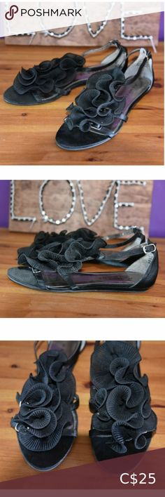 Shop Women's Rampage Black size Sandals at a discounted price at Poshmark. Description: Gorgeous RAMPAGE Black Strappy Sandals with Sheer Ruffle Like new. Worn once. Women's size Sold by Fast delivery, full service customer support. Strappy Sandals, Women's Shoes Sandals, Plus Fashion, Fashion Tips, Fashion Trends, Shopping, Accessories, Black, Sandals