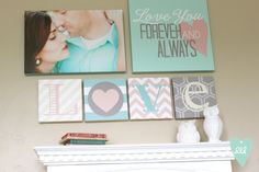 Canvas Gallery Wall by Polka Dots & Daisies. Check out DesignLovesDetail.com for more great home decorating ideas & DIY's!!