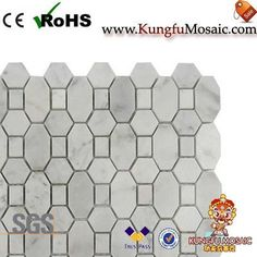 The White Marble Tile Backsplash mainly used for wall. In general, there always can do in rich colors stone. For example, the most popular is the white marble tile backsplash. Marble Tile Backsplash, Stone Mosaic Tile, Marble Mosaic, Mosaic Tiles, Carrara, White Marble, Mosaic Pieces