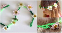 Pipe cleaner daisy chains