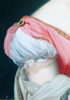 """Detalle del """"Retrato de Hortensia de Beauharnais, Reina de Holanda, esposa del Rey Lius Napoleón"""" (1809). Anne-Louis Girodet de Roucy-Triosson (1767-1824)."""