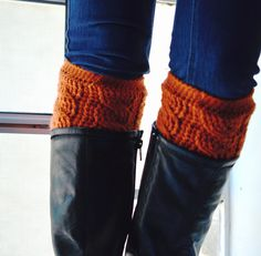 orange boot cuffs! *love*