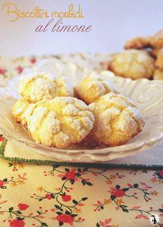 biscottini morbidi al limone-lemon crackles cookies