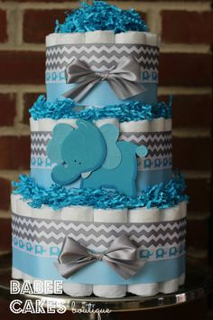 Hey, I found this really awesome Etsy listing at https://www.etsy.com/listing/218480875/3-tier-blue-and-gray-elephant-diaper