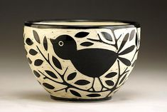 Blackbird Bowl: Jennifer Falter: Ceramic Bowl - Artful Home
