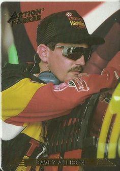 1993 Action Packed Davey Allison Racing News, Nascar Racing, Auto Racing, Jack Evans, Joey Logano, Player Card, Danica Patrick, Garage Art, Dale Earnhardt