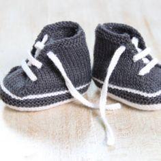 Baskets bébé / Explications tricot en Français PDF Téléchargement instantané / Taille Naissance - 3 mois