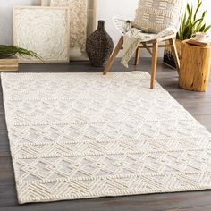 Union Rustic Clancy Hand-Tufted Wool Cream Area Rug Rug Size: Rectangle x All Modern, Modern Decor, Modern Living, Rustic Decor, Trellis Pattern, Cream Area Rug, Rugs In Living Room, Bedroom Rugs, Dining Rooms