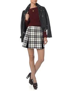 The New Skirt: Carven Tartan Wool Pleat Mini Skirt ($535)