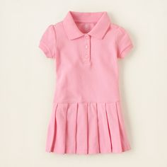 baby girl - dresses - uniform pleated polo dress | Children's Clothing | Kids Clothes | The Children's Place