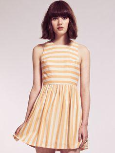 Orange Stripe Dress, Dahlia