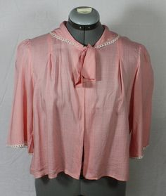 Vintage Bedjacket Peachy Pink Bedjacket from by ilovevintagestuff