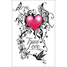 Nice Heart True Love Tattoo Design Golfiancom love tattoo designs - Tattoos And Body Art True Love Tattoo, Love Heart Tattoo, Heart Tattoo Designs, Heart Designs, Trendy Tattoos, Love Tattoos, Dad Tattoos, Skull Tattoos, Tattoos