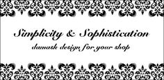 Simple, yet sophisticated, design for your Etsy or Artfire shop. Available for purchase.