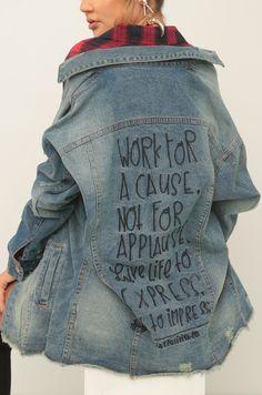 Stay Positive Jacket - Denim