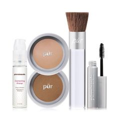 """Pür Minerals NEW Start Now Kit "" .I'm going to miss old starter kit! Everyone I've recommended it to has loved it! Despite it's awesomeness I think people are really going to dig trialing the newly added correcting primer and mascara. Make Up Kits, Sephora, Makeup Kit Essentials, Makeup Starter Kit, Mineral Cosmetics, Mineral Powder, Loose Powder, Best Makeup Products, Beauty Products"