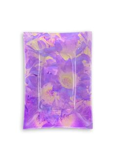 View Oblong Glass Tray - Bouquet in purples Glass Tray, Placemat Sets, Napkins Set, Experiment, Pillow Covers, Original Art, Bouquet, Iphone Cases, Purple
