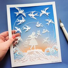 """Dare to Fly"" original papercut illustration by Sarah Trumbauer / prints available on Etsy!"