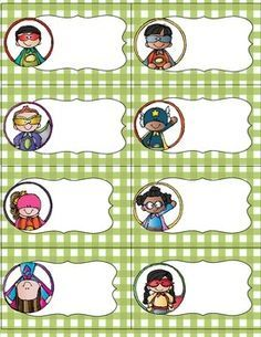 This is a set of classroom labels. This set includes a themed set of labels, blank labels and three pages of assorted labels. The labels include subjects, supplies, lunch labels, snack labels, binder labels, etc.