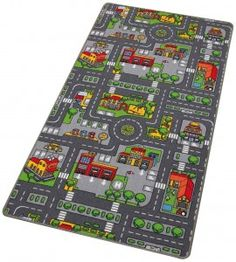 tapis de jeu circuit de voiture dans la ville. Black Bedroom Furniture Sets. Home Design Ideas