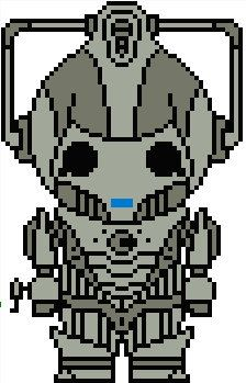 Doctor Who: Cyberman PDF Chart Cross Stitch Pattern