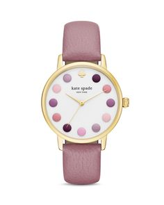 kate spade new york Purple Dot Metro Watch, 34mm