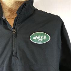 New York Jets Pull Over Nike Dri Fit On Field Apparel NFL Football Jacket  Black  7f9d7b8c9