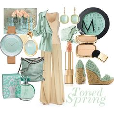 Casual Toned Spring by prettyyourworld on Polyvore featuring IKI, Donna Karan, maurices, Naughty Monkey, Ina Kent, Astley Clarke, Skagen, Monet, Dolce&Gabbana and MAKE UP STORE