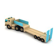 wooden toy truck lighting 3d model