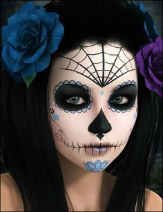 23 best sugar skull halloween makeup ideas - Halloween Makeup For Beginners