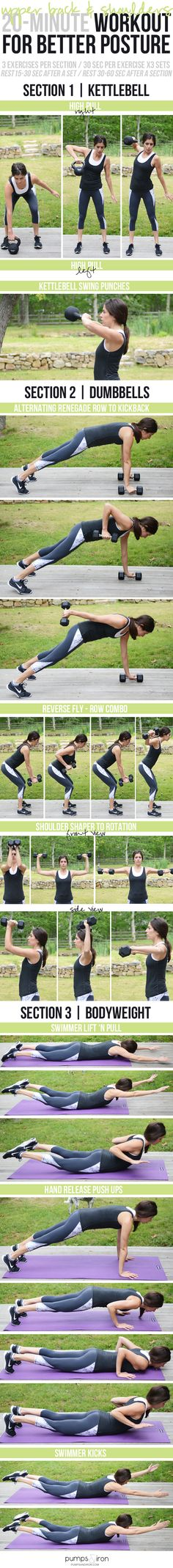 20-Minute Workout for Better Posture (targets upper back and shoulders)