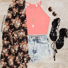 How cute is this outfit styling our Holland Crop Top?  Visit us at ShopPriceless.com for more goodies!
