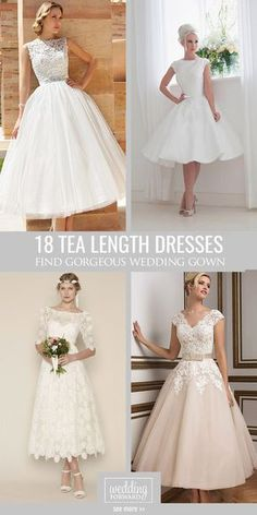 83b156e34680 18 Gorgeous Tea Length Wedding Dresses ❤ Owners of tea length wedding  dresses look stylish