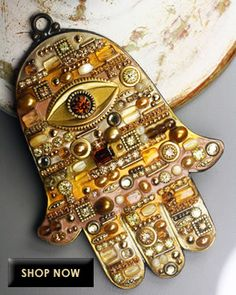 Items similar to Michal Golan Tonal Earth-Color with Gold Accents Mosaic Wall Hamsa on Etsy Hamsa Art, Biscuit, Earth Color, Hand Of Fatima, Pearl Set, Mosaic Wall, Gold Accents, Evil Eye, Swarovski Crystals