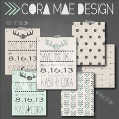 """Save the date. 5x7"""" invite.  300 dpi resolution. on Etsy, $13.00"""