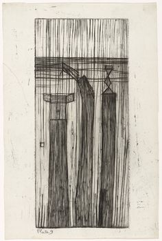 Louise Bourgeois. Untitled, plate 9, state II, from He Disappeared into Complete Silence. (1946-47)